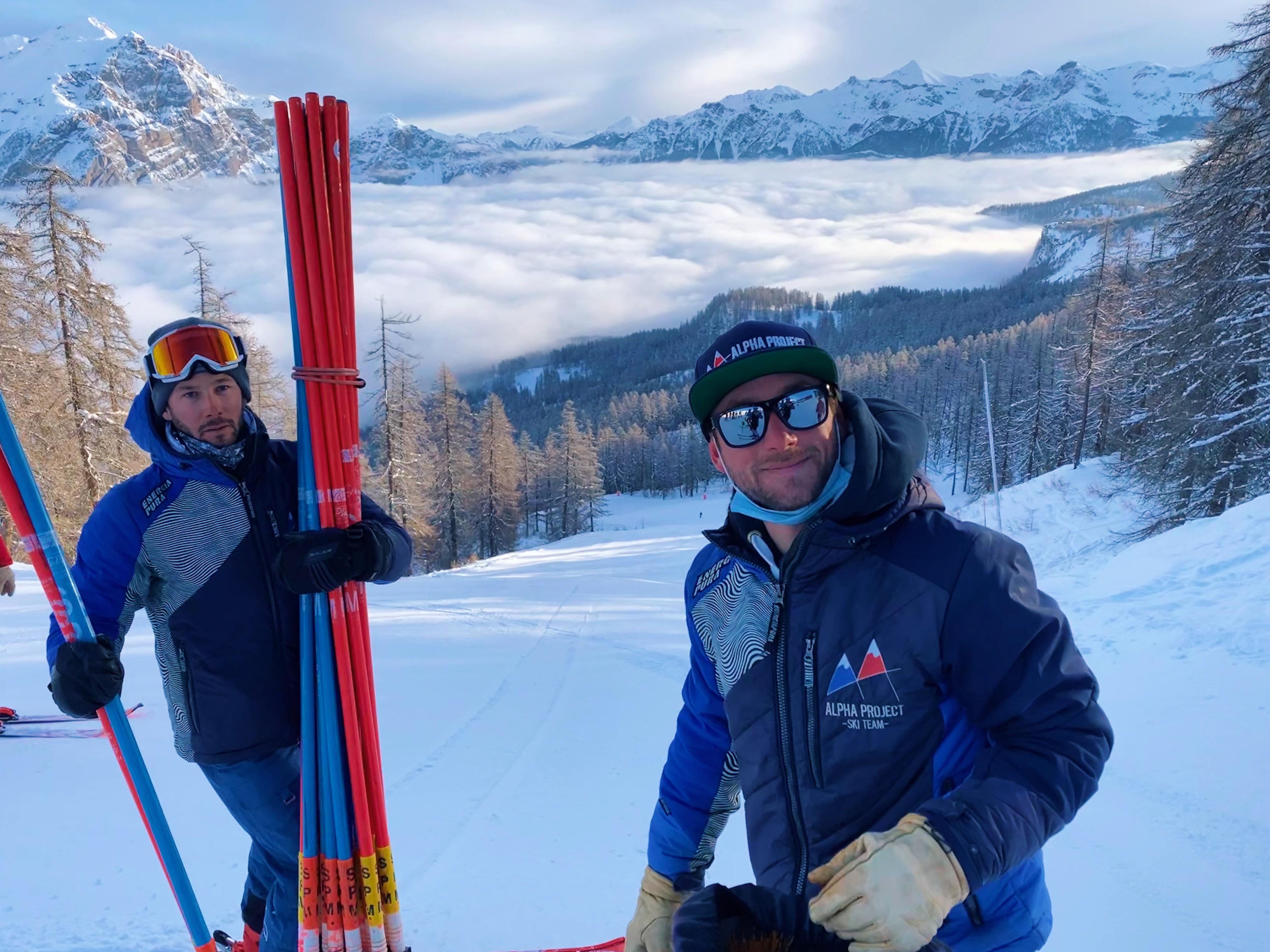 Matinée de slalom mise en place par Charly et Antoine - Hiver 2021 - Puy St Vincent