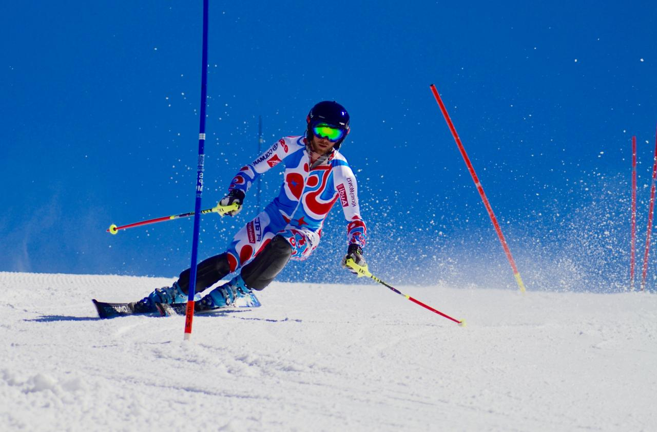 Slalom Training in Serre Chevalier , France