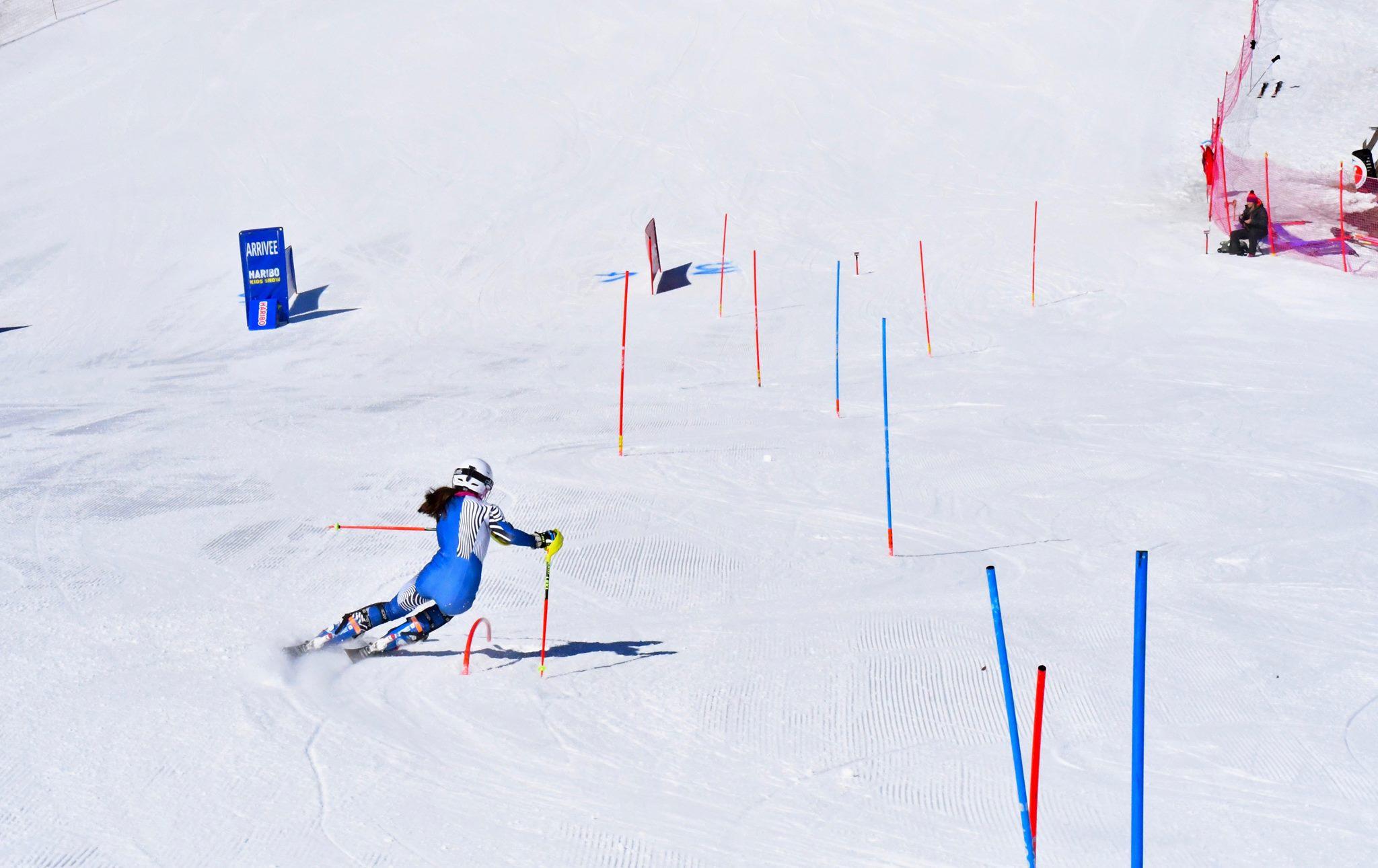 ligne d'arrivée - Slalom skicamp - Montgenèvre Mars 2019