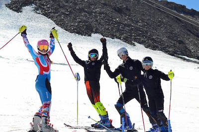 Entraînement slalom, stage de ski à Val d'Isère, Juillet 2016